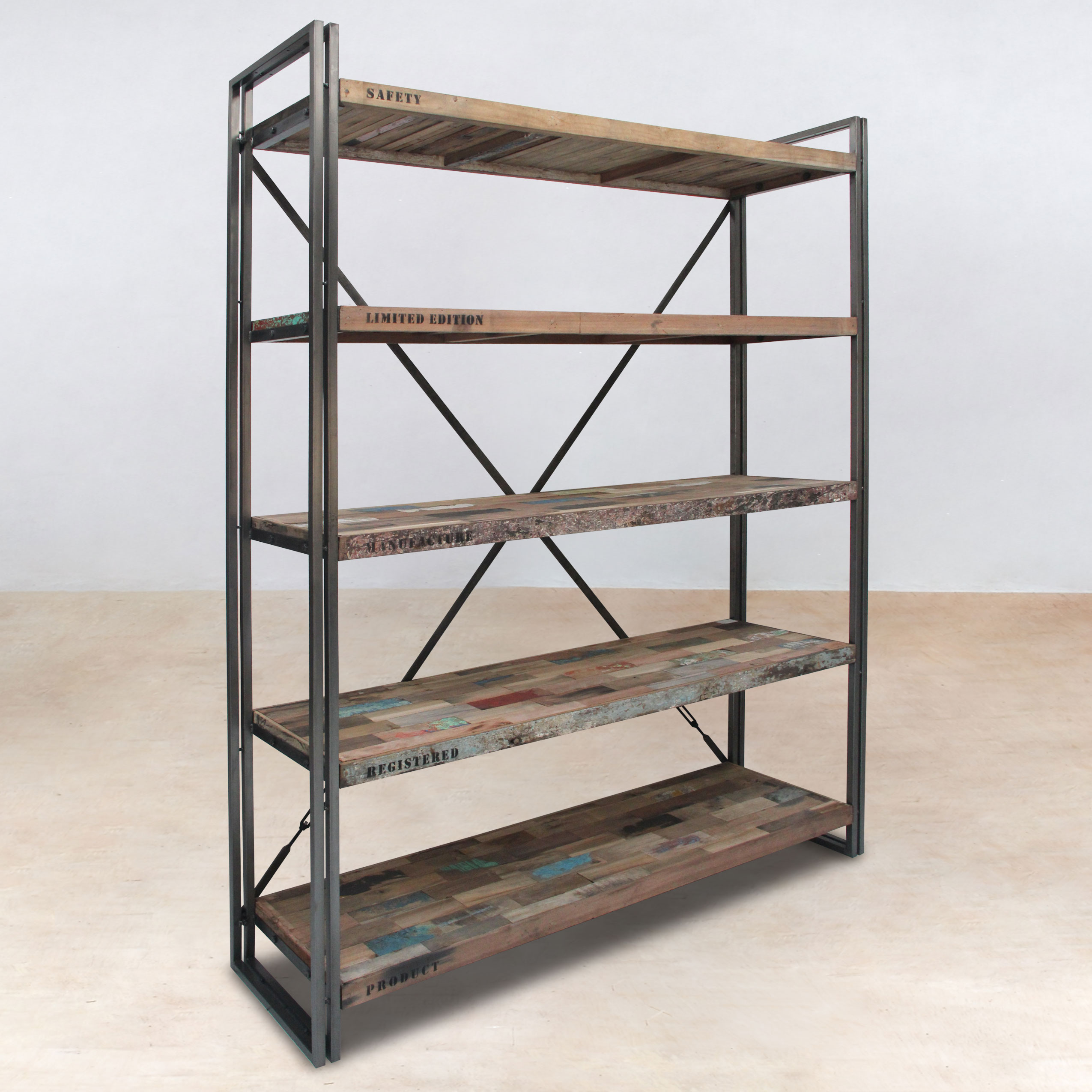 etagere bois recycle. Black Bedroom Furniture Sets. Home Design Ideas