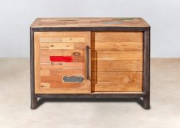 bar en bois recycl s de bateaux coin droit industryal. Black Bedroom Furniture Sets. Home Design Ideas