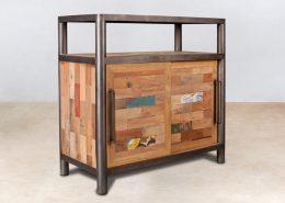 buffet en bois recyclés 2 portes coulissantes et 1 niche - ocean - détails