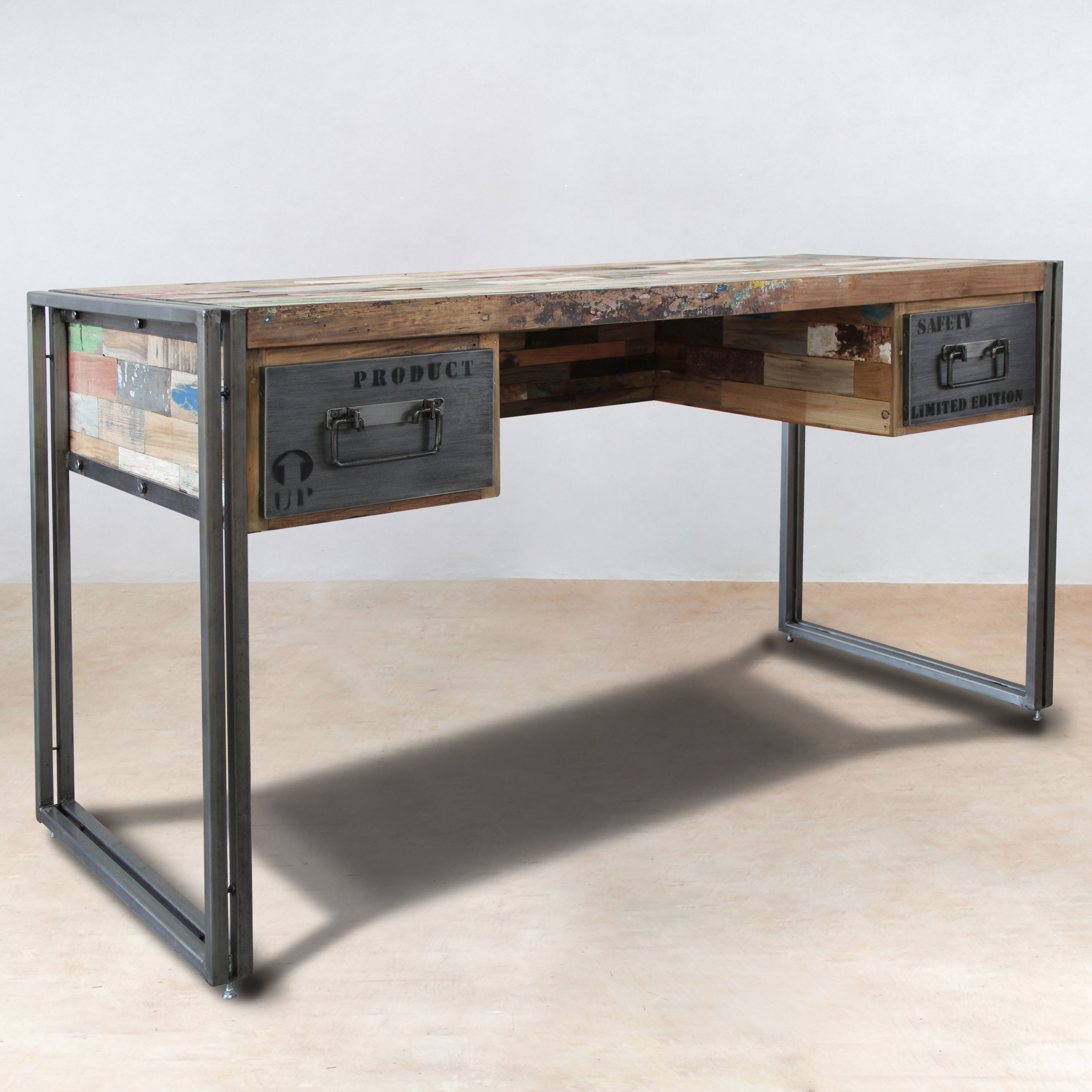 Bureau metal for Meuble bureau en metal