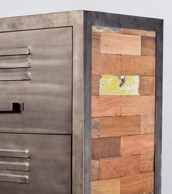 collection de meubles en bois recyclés INDUS