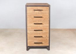 meuble 6 tiroirs en bois recyclés de bateaux - ocean - details