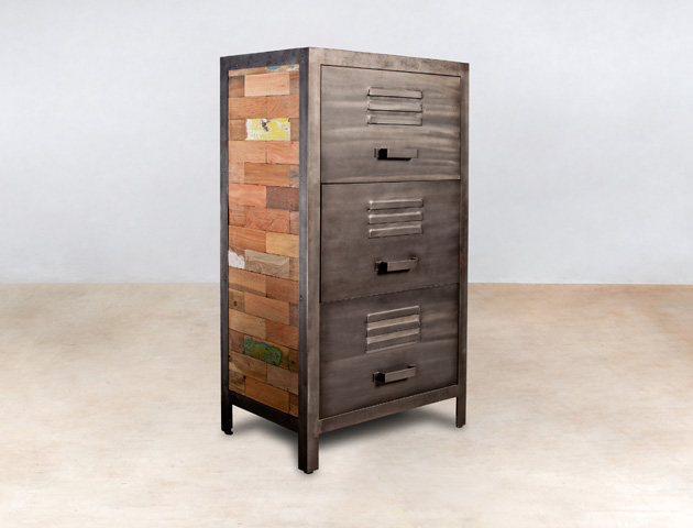 meubles en bois recycl s de bateaux industryal. Black Bedroom Furniture Sets. Home Design Ideas