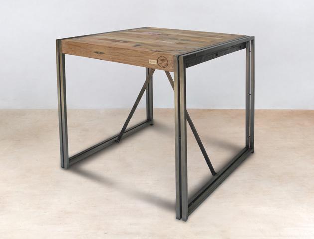 table à manger haute mange-debout carrée 100cm - détails