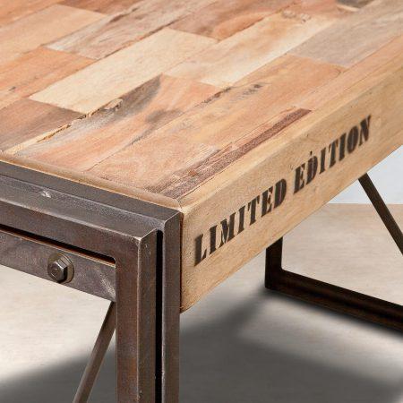 table mange debout 150cm en bois recycl s industryal. Black Bedroom Furniture Sets. Home Design Ideas